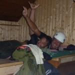 Slapen in de hut